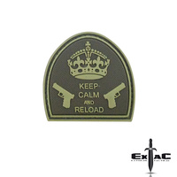 KEEP CALM AND RELOAD PVC MORALE PATCH