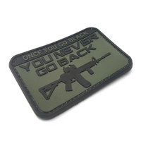 ONCE YOU GO BLACK- YOU NEVER GO BACK PVC MORALE PATCH