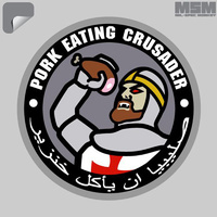 MSM PORK EATING CRUSADER DECAL
