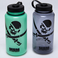 MSM PIRATE SKULL NALGENE WIDE MOUTH 1000ML GLOW IN THE DARK