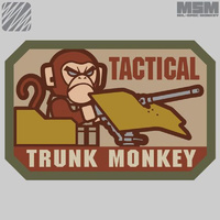 MSM TACTICAL TRUNK MONKEY WOVEN MORALE PATCH- SWAT