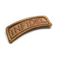 MSM INFIDEL TAB WOVEN MORALE PATCH- DESERT