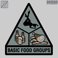 MSM BASIC FOOD GROUPS WOVEN MORALE PATCH- FOREST