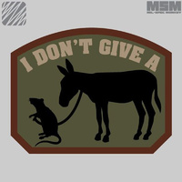 MSM RAT'S ASS WOVEN MORALE PATCH- FOREST