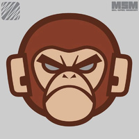MSM MONKEY HEAD LOGO WOVEN MORALE PATCH- ARID