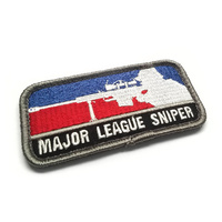 MSM MAJOR LEAGUE SNIPER WOVEN MORALE PATCH- FULL COLOUR