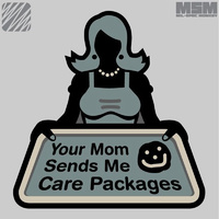 MSM YOUR MOM SENDS WOVEN MORALE PATCH- ACU