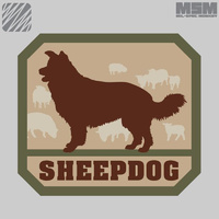 MSM SHEEPDOG WOVEN MORALE PATCH- FOREST
