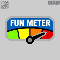 MSM FUN METER WOVEN MORALE PATCH- FULL COLOUR