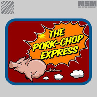 MSM PORK CHOP EXPRESS WOVEN MORALE PATCH- FULL COLOUR
