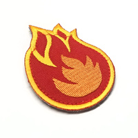 MSM FIREBALL WOVEN MORALE PATCH- FIRE