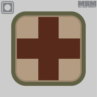 "MSM MEDIC SQUARE 2"" PVC MORALE PATCH- MEDICAL"