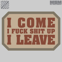MSM I COME WOVEN MORALE PATCH- SWAT