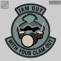 MSM JAM OUT WOVEN MORALE PATCH-FOREST