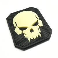 MSM PIRATE SKULL LARGE PVC MORALE PATCH- GLOW