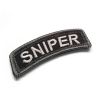 MSM SNIPER TAB WOVEN MORALE PATCH- URBAN