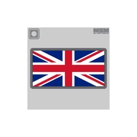 MSM BRITISH FLAG PVC MORALE PATCH- MULTICAM