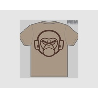 MSM LOGO T-SHIRT- X LARGE- DUSTY BROWN