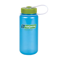 NALGENE WIDE MOUTH TRITAN BOTTLE 500ML SKY W/ GREEN