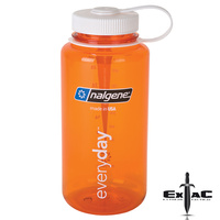 NALGENE WIDE MOUTH TRITAN BOTTLE 1000ML ORANGE W/ WHITE