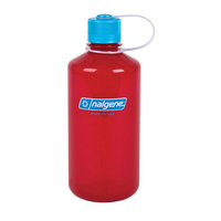 NALGENE NARROW MOUTH TRITAN BOTTLE 1000ML BERRY W/ BLUE