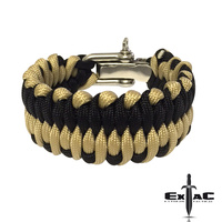 PARACORD DRAGON TONGUE SURVIVAL BRACELET TAN/ BLACK