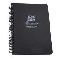 RITE IN THE RAIN SIDE-SPIRAL 4 5/8 X 7 NOTEBOOK BLACK