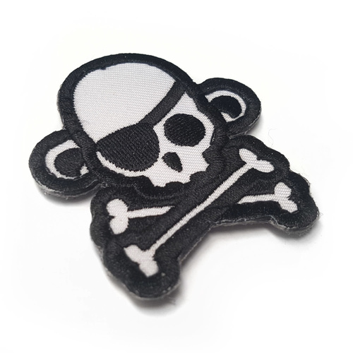MSM SKULL MONKEY PIRATE WOVEN MORALE PATCH- SWAT