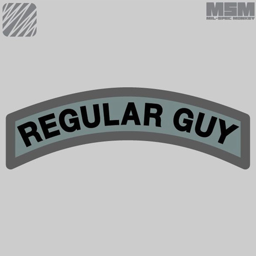MSM REGULAR GUY WOVEN MORALE PATCH- SWAT