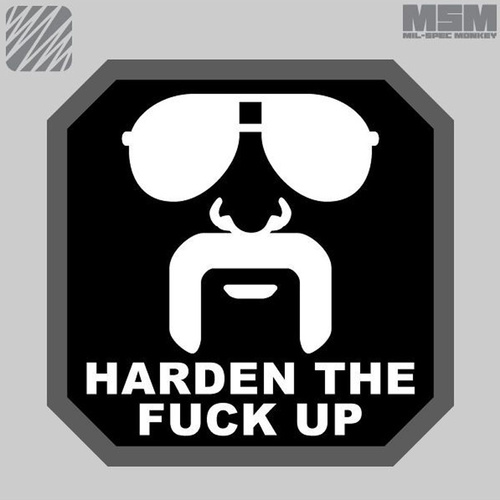 MSM HARDEN UP WOVEN MORALE PATCH- SWAT