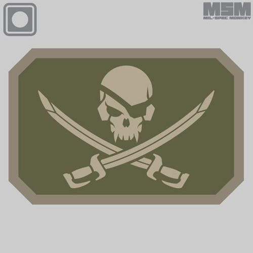 MSM PIRATESKULL PVC MORALE PATCH- ACU DARK