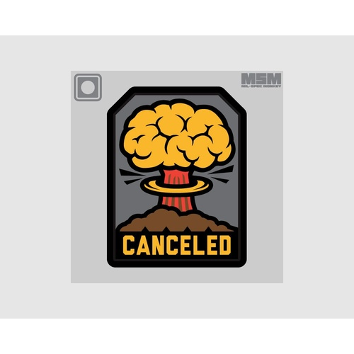 MSM CANCELED PVC MORALE PATCH- FULL COLOUR