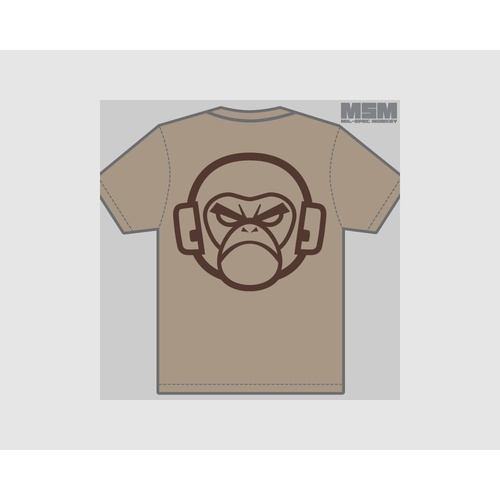MSM LOGO T-SHIRT- LARGE- DUSTY BROWN