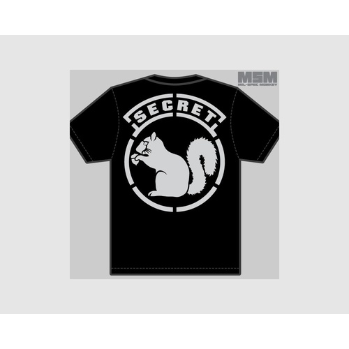 MSM SECRET SQUIRREL T-SHIRT- X LARGE- BLACK