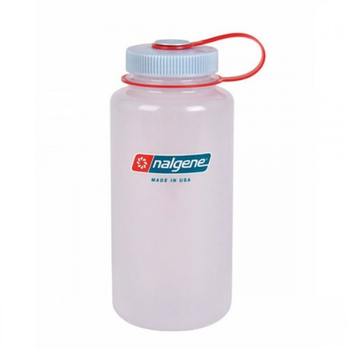 NALGENE WIDE MOUTH TRITAN BOTTLE 500ML FROST W/ ORANGE