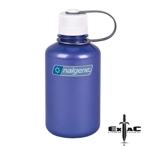 NALGENE NARROW MOUTH TRITAN BOTTLE 500ML LILAC W/ WHITE