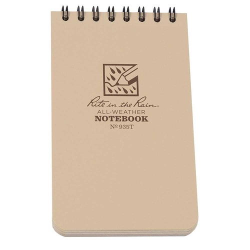 "RITE IN THE RAIN 5"" X 3"" ALL WEATHER NOTEBOOK TAN"