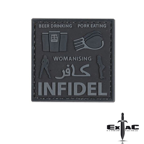 BEER DRINKING PORK EATING WOMANISING INFIDEL PVC MORALE PATCH