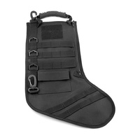 Tactical Stocking Black | MOLLE Loops, Nylon Construction, AC200