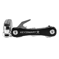 KeySmart Rugged | 14 Keys, Belt Clip, Bottle Opener, Aluminium, Black