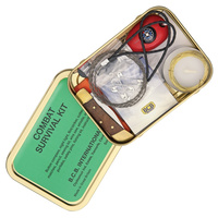 BCB International Combat Survival Kit | Over 17 Items, Water Resistant Tin, BUS015