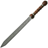 "Rite Edge Damascus Rosewood Sword | Huge 39.25"" Overall, Damascus Steel, Double Edged, DM5003"