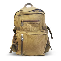"Huss Vintage Jumbo Backpack 18"" - Brown"