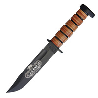 "Ka-Bar 120th Anniversary Fixed Blade Combat Knife | 12"" Overall, 1095 Cro-Van Carbon Steel, KA9193"