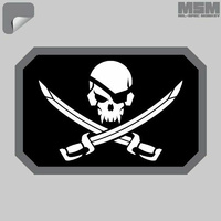MSM Pirateskull Flag Decal - SWAT