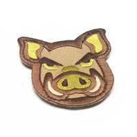 MSM Pig Head Woven Morale Patch - Arid