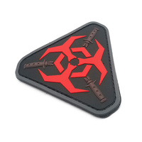 MSM Outbreak Response PVC Morale Patch - Red