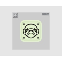 "MSM MONKEY STENCIL PVC 1"" MORALE PATCH - SWAT"