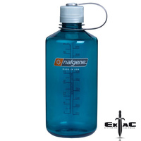 Nalgene Narrow Mouth 1000ml Drink Bottle | Trout Green, Tritan, Odour Proof, NAL4TRWGR
