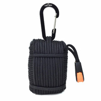 Paracord Carabiner Survival Kit | Extra Large, Black, PCSK02BK